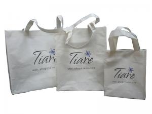 China OEM White Tirar 100g Recycle Paper Shopping / Carrier Bag For Gift Packaging on sale