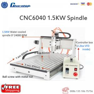 China Powerful Desktop 3 Axis CNC 6040 Router , Ball Screw CNC Cutting Machine on sale