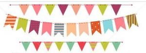 China Colorful bunting party flag banner on sale