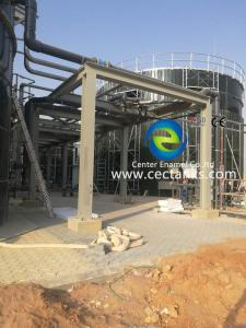 China Gas / Liquid Impermeable Glass Lined Water Storage Tanks Capacity 20 M³ To 18000 M³ on sale