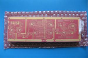China 10 Layer RF High Frequency PCB With RO4350B and FR-4 Combined and red soldermask on sale