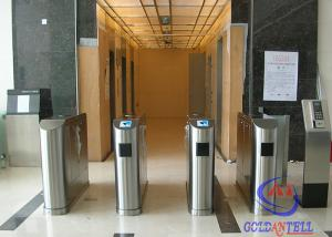 China Biometric Access Control Flap Barrier , Full Automatic Barrier Gate for Library / Theater on sale