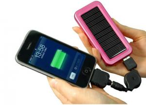 China compact design portable solar powered mobile phone charger for iPhone on sale