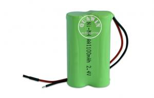 China AA Size Nimh Rechargeable Batteries 2s1p 1100mah 2.4v for Interphone Camcorder on sale