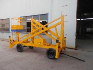 China Crank Arm Hydraulic Aerial Lift , Light Weight Curved Arm Type Electric Boom Lift on sale