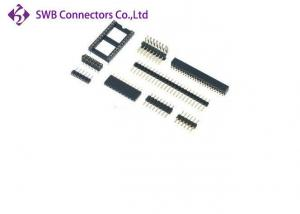 China Black 2.54 Mm Pitch Male Female Header Connector , 6 Pin Header Connector on sale
