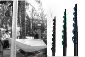 China 4~20m carbon fiber telescopic pole Aerial telescopic rod Fruit harvesting telescopic poles on sale