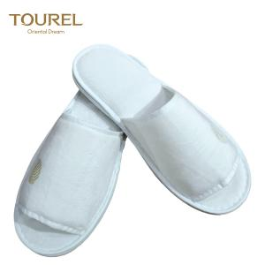 China White Color Open Toe Hotel Slippers With EVA Sole For Woman And Man USE on sale