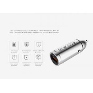 China Metal In - Car Usb Vehicle Charger Adapter / Silver Usb Portable Charger on sale