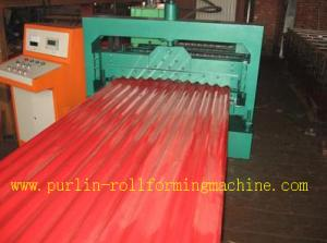 China CE Corrugated Roof Panel Roll Forming Machine PANASONIC Transducer For Chain Drive on sale