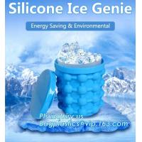 Reusable Leakproof Silicone ice Genie,Ice Cube Maker Genie Silicone Ice bucket The Revolutionary Space Saving Ice Cube M