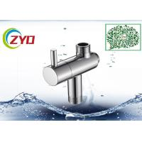 Stainless Steel Shower Head Diverter Valve Silver Nickle Plating Finish