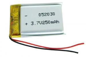 China Smart Watch Battery Lithium Polymer Battery Pack 3.7V 502030 250mAh With High Power on sale