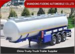 China 3 Axles 42 CBM Fuel Tanker Semi Trailer  FUWA axles diesel tanker trailer for sale wholesale