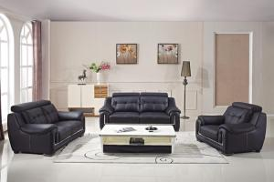 China Popular designer living room modern Italian leather office sofa set on sale