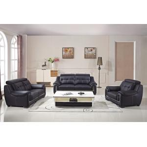 China Popular designer living room modern Italian leather office sofa set on sale
