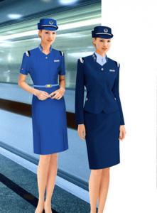 Robe Uniforme D Hotesse De Ligne Aerienne De Costume D Habillement