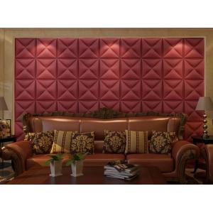wall decoration tiles. Quality PVC Tiles 3D wall tiles interior fire resistant leather decoration  panel YHT decor