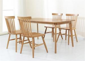 China Solid Oak Kitchen Hotel Dining Table And Chairs Strong Structure Classic Style on sale