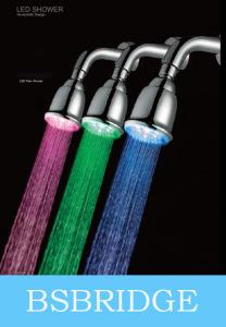 China BSBRIDGE Hydropower LED shower head ,color changing with temperature on sale
