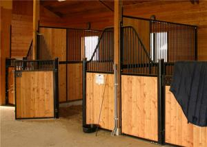 China Customized Temporary Bamboo Board Indoor Safety Steel Horse Stalls Horse Stables Factory Made on sale
