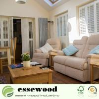 Interior Plantation Style PVC Wooden Window Blinds Shutters