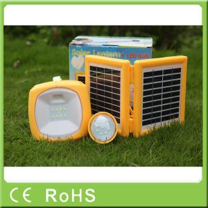 China China manufacturer 3.4W 9V with bulbs portable led solar rechargeable lantern on sale
