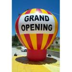 Giant ground helium inflatable advertising balloon for event promotion grand letter