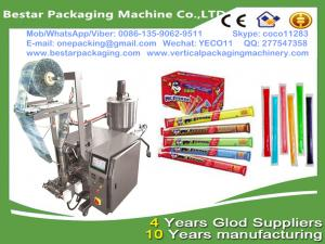 China Bestar new design liquid fruits syrup packaging machine,small scale juices and syrups pouch packaging on sale