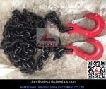 10mm Grade 80 chain with clevis slip hook,red color