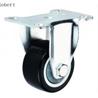 Durable Trolley Polyurethane Roller Wheels , Spring Loaded Casters For Machines