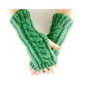 China Personality Knit Hand Arm Warmer Fingerless short Gloves, texting Gloves for girl on sale
