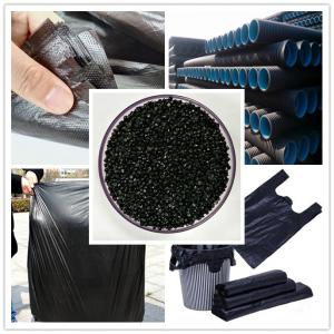 China LLDPE carbon black masterbatches for injection molding, extrusion, blowing film on sale