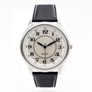 China Black Leather Strap Watches Waterproof Men Watch Brands, Men or Women Stainless steel Case on sale