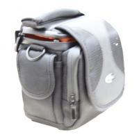 Portable Black Fabric Thick Water Proof Sponge Nylon Camera Bag With Orange Velvet Lining