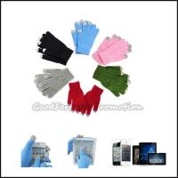 China High quantity promotion printed logo warm touch screen glove for iphone ipad moblie gift on sale