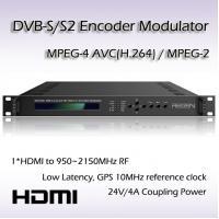 HD-SDI TO DVB-S/S2 Encoding Modulator RF(950~2150MHz) or IF(50~200MHz) Output REM7001