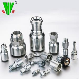 CNC manufacturing stainless steel hydraulic fitting hose 74 degree