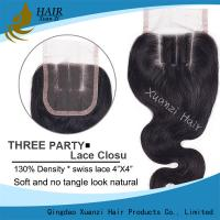 Free Middle Lace Frontal Closure With Baby Hair , Natural Human Hair Top Piece Closure