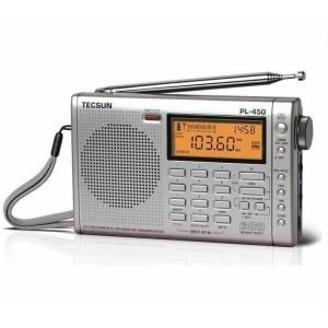 China TECSUN PL450 FM stereo SW MW LW PLL Shortwave Digital Full Band Portable Radio Synthesized Receiver on sale