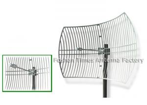 China 5725 - 5850MHz Parabolic Uhf Antenna , WLAN / LAN 30 Dbi Wifi Antenna Outdoor on sale