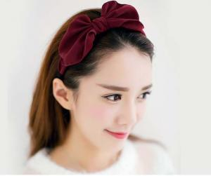China Wide Graceful Hair Accessories Hair Bands Lady Daily Use Big Bow Hair Band on sale
