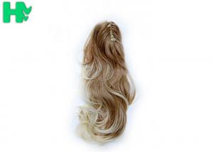 China Curly Claw Clip Ponytail Synthetic Hair Pieces For Women 18 Inch on sale