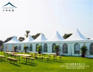 China 5x5m White Exhibition Pagoda Tents With Sidewall High Pressed Aluminum Alloy Frame on sale