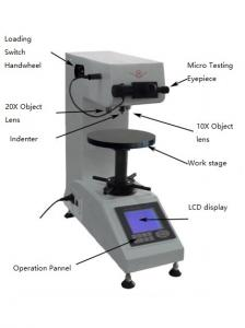 China Optical Vickers Micro Digital Hardness Tester High Internal Memory Capability on sale
