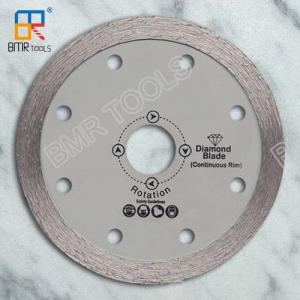 China BMR TOOLS 4 inch cold press continuous rim diamond saw blade for tile/ceramic/glass/granite on sale