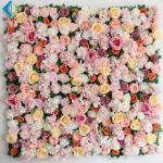 Shop Decoration Artificial Vertical Garden , Peony Roses Artificial Flower Wall