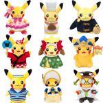 Les nouveaux personnages de dessin animé Pokemon ont bourré les jouets 8inch de peluche pour la machine de jouet de vente de grue