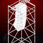 Наслоите ферменную конструкцию, стальную ферменную конструкцию, ферменную конструкцию на открытом воздухе этапа