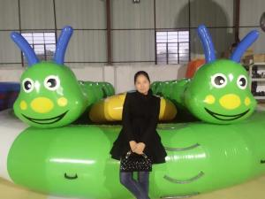 China Waterproof Anti - Corrosion Fabric Inflatable Jump Bed For Family Entertainment on sale